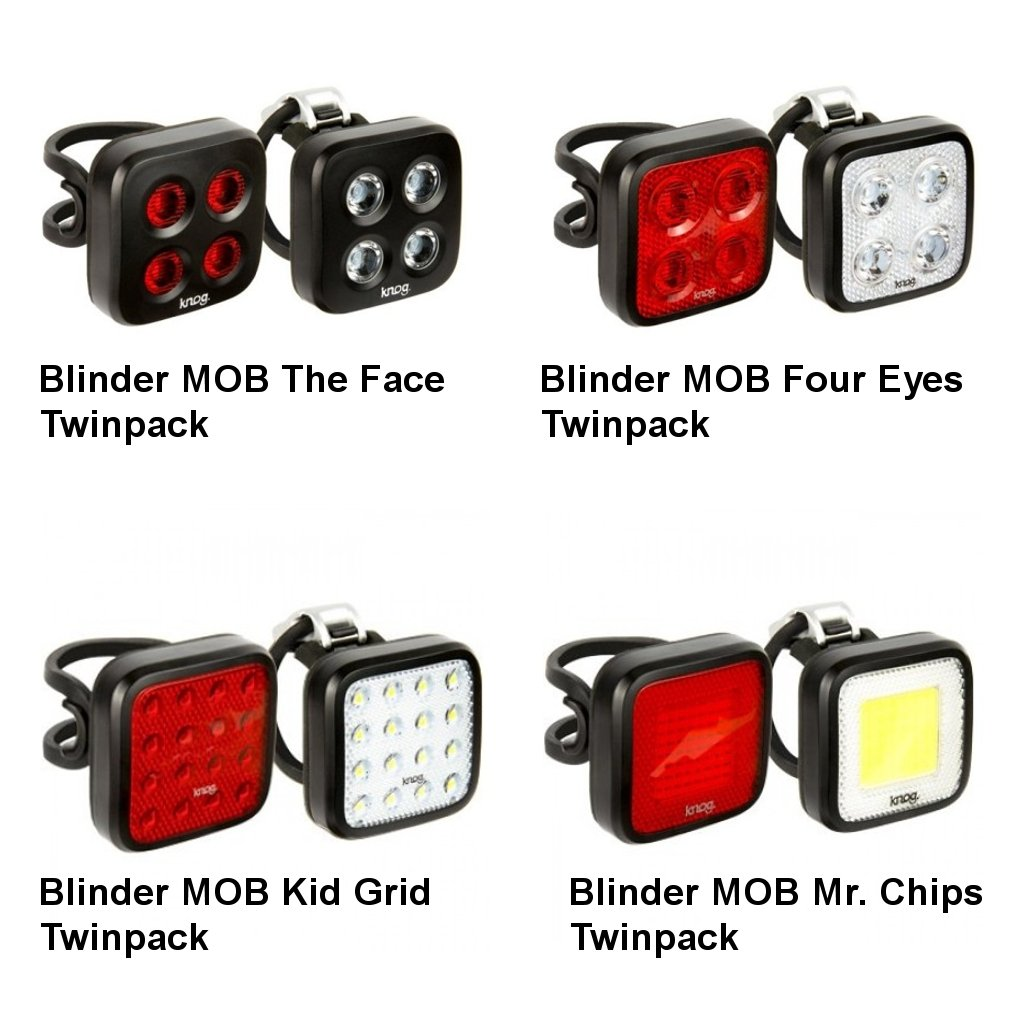 KNOG Blinder MOB Twinpack Mr Chips - set